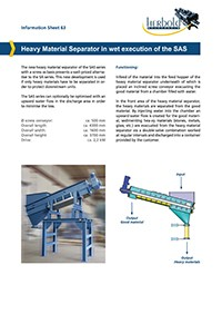 Material Separator in Wet Execution of the SAS