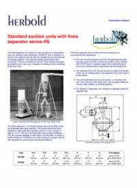 Standard Suction Units with Fines Separator - HS