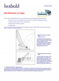 Size Reduction of Tubes and Pipes