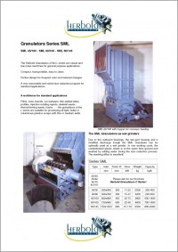 Herbold General Purpose Granulators SML Series